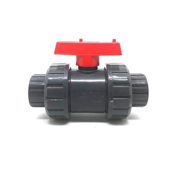 PVC-TRUE-UNION-BALL-VALVE-SOCKET-RED-HANDLE